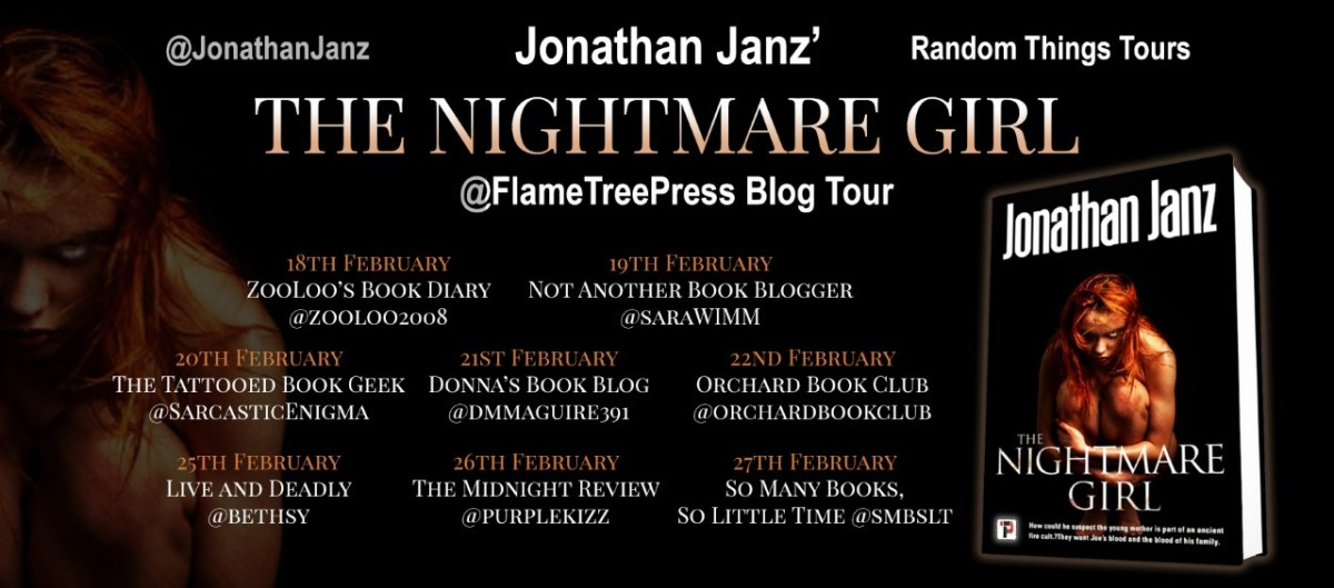 the nightmare girl blog tour poster